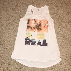 """old navy girls """"keep it real"""" tank"""